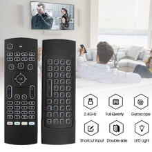 KEBDIU MX3 Remote Control Voice Air Mouse keyboard backlight Russian English IR Learning keys for Android Smart TV Box PK G30