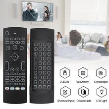 KEBDIU MX3 מרחוק בקרת קול אוויר עכבר מקלדת תאורה אחורית רוסית אנגלית IR למידה מפתחות עבור אנדרואיד טלוויזיה חכמה תיבת PK g30