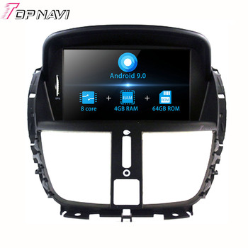 7 Inch Android 9.0 Car DVD Multimedia player GPS Navigation For Peugeot 207 2007-2014 Car Radio Stereo map 2 din Autoradio image