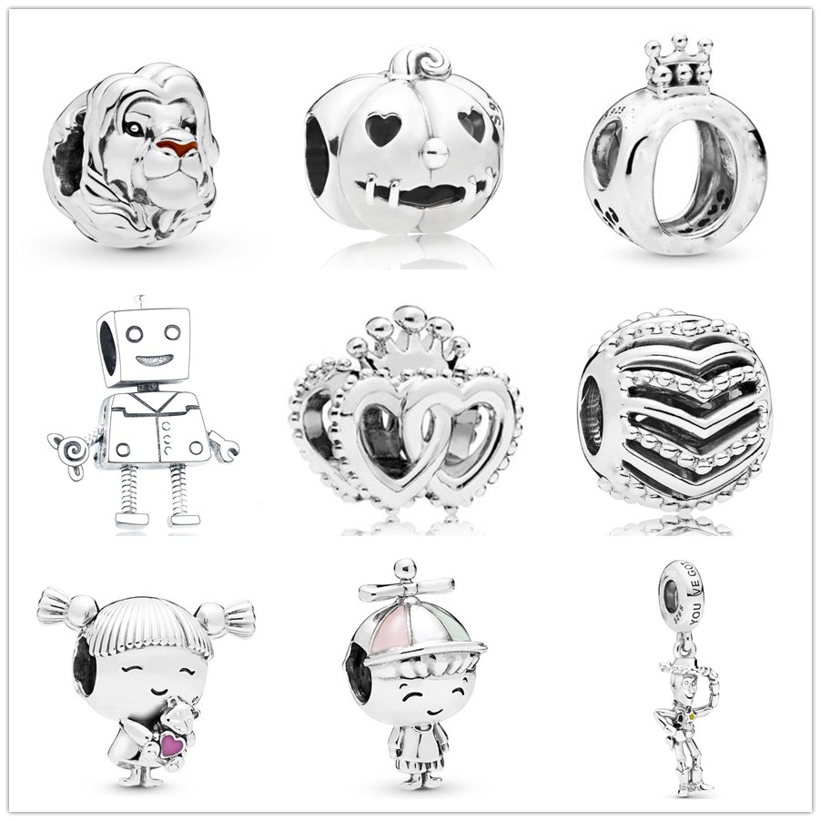 New Original lion king Simba girl wish pendant Bead fit Pandora charms silver 925 Bracelet for women diy fashion jewelry making(China)