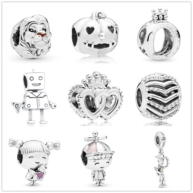 New Original lion king Simba girl wish pendant Bead fit Pandora charms silver 925 Bracelet for women diy fashion jewelry making