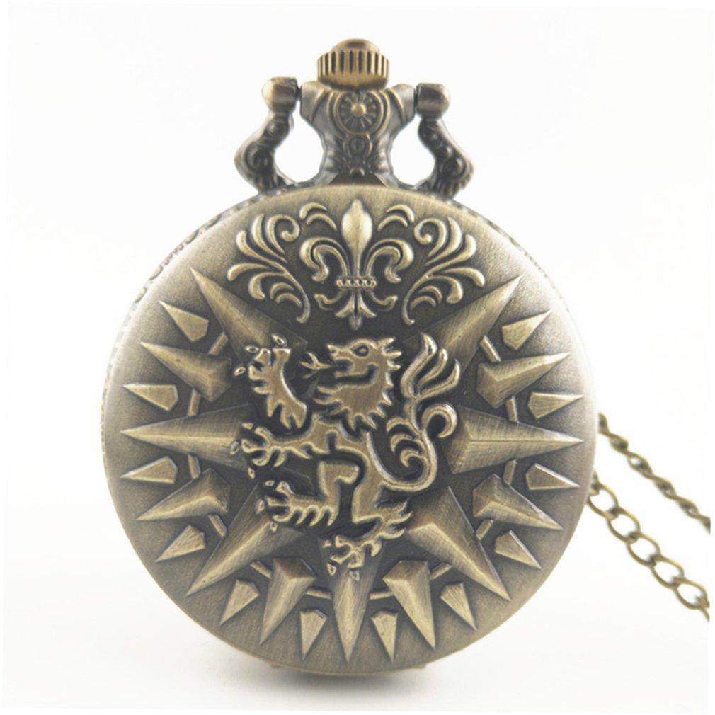 Unique Unisex Vintage Antique Round Dial Quartz Pocket Watch Necklace Pendant Clock For Mens Womens Best Gifts
