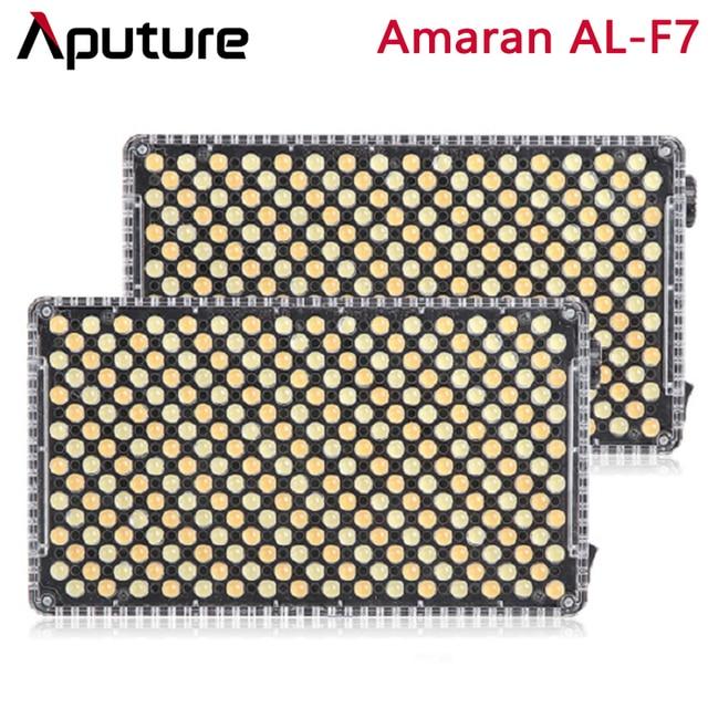 Aputure Amaran AL F7 Bi Nhiệt Độ Màu 3200 9500K CRI/TLCI 95 + 256 Chiếc Đèn LED Panel điều Chỉnh Vô Cấp Trên Camera LED Video
