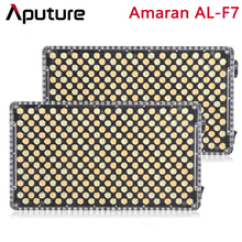 Aputure amaran AL F7 bicolor temperatura 3200 9500 k cri/tlci 95 + 256 pces led painel stepless ajuste on camera led luz de vídeo