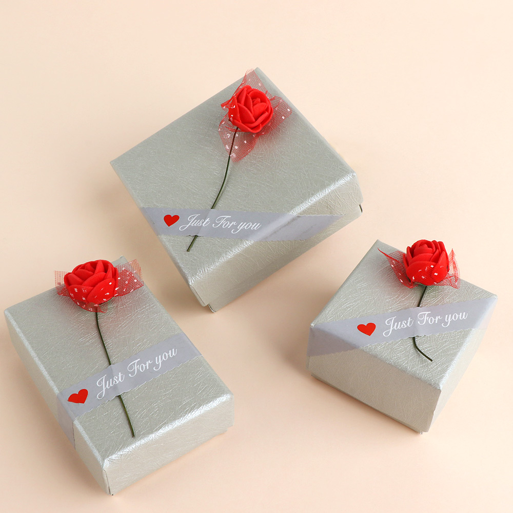 3 Type Size Striped Rose Shape Jewelry Box For Necklace Pendant Bracelet Ring Earring Jewelry Storage Gifts Box New Arrival