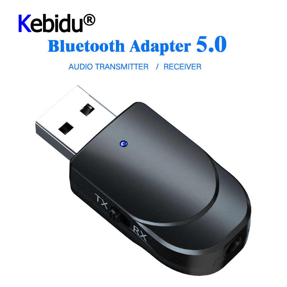 3 In 1 Mini Bluetooth 5.0 Audio Receiver Transmitter 3.5 Mm Jack Aux USB Musik Stereo Adaptor untuk TV mobil PC Headphone