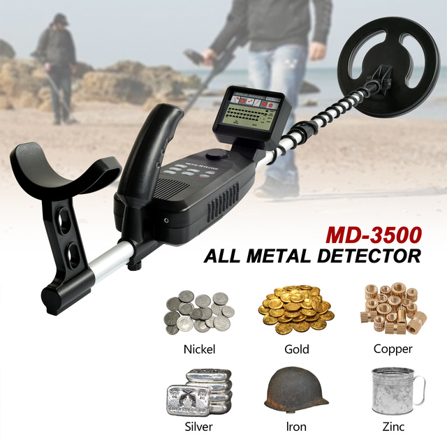Underground Metal Detector MD-3500 MD3500 Treasure Hunting Detector Metal Search Gold Silver Detector Stud Finder Metaaldetector 2