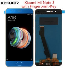 For xiaomi mi note 3 lcd screen Tested Lcd Display+Touch Screen with Fingerprint Key Part for Xiaomi Mi Note 3 display 5.5inch