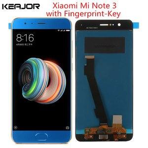 Image 1 - Xiaomi mi note 3 lcd 스크린 테스트 xiaomi mi note 3 디스플레이 5.5 인치 용 지문 키 부품이있는 Lcd 디스플레이 + 터치 스크린