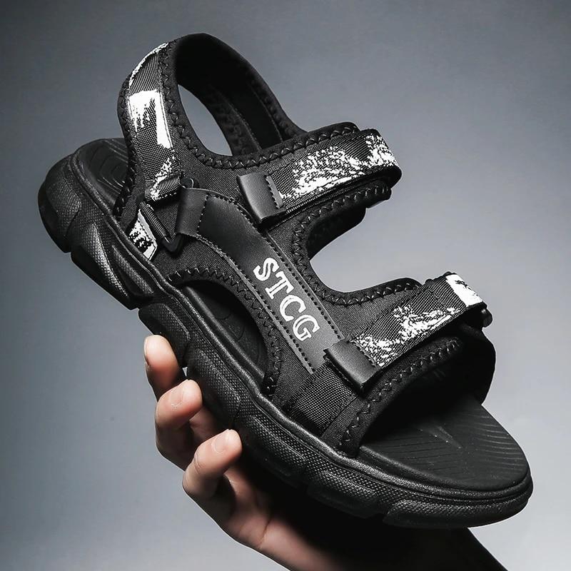 Summer Casual Men Sandals Webbing Strap Adjust Shoes Sandal For Mens Slide  Beach Outdoor Sport Sandals Sandalias Hombre Men's Sandals  - AliExpress
