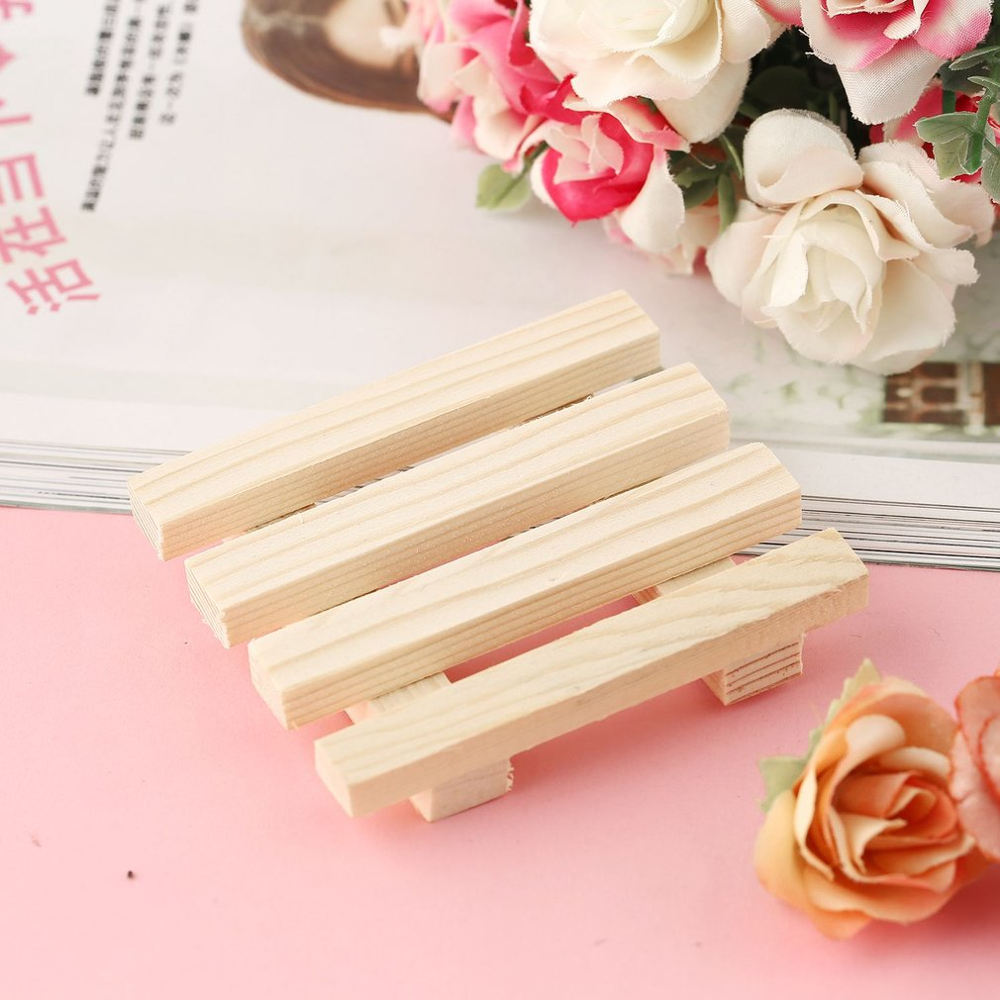 Natural Wooden Bamboo Soap Dish Wooden Soap Tray Holder Storage Soap Rack Plate Box Container For Bath Shower Plate Bathroom Hot