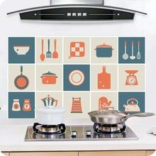 Anti-oil Sticker Thicker Aluminum Foil Kitchen Cupboard Waterproof Heat-resistant Wallpaper Home Wall