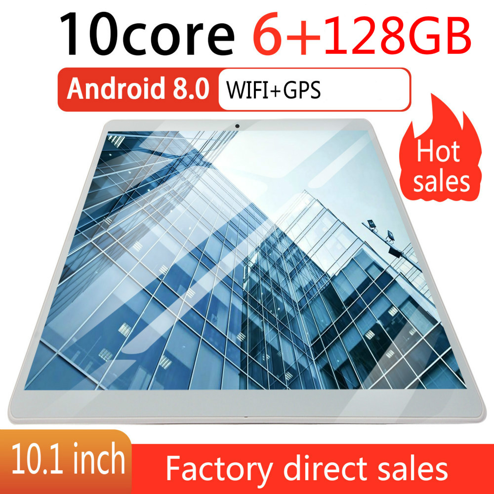 2020 2.5D Screen Android 8.0 10 Inch 4G Network WiFi Tablet PC Dual SIM Call Phone Tablet Gifts(RAM 6G+ROM 128G) Tablet Gifts