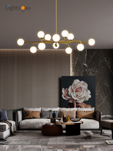 Nordic all copper living room chandelier simple restaurant chandelier creative personality magic bean lamps