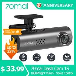 Видеорегистратор 70mai 1S, Full HD 1080P, Wi-Fi, ночное виденье, G-датчик, управление в приложении и голосом на английском языке