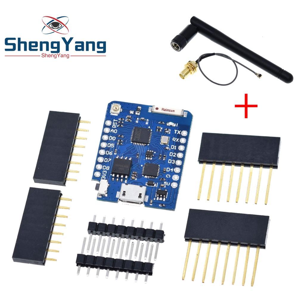 1 шт. ShengYang D1 mini Pro -16M байт внешний антенный разъем ESP8266 WIFI для WEMOS
