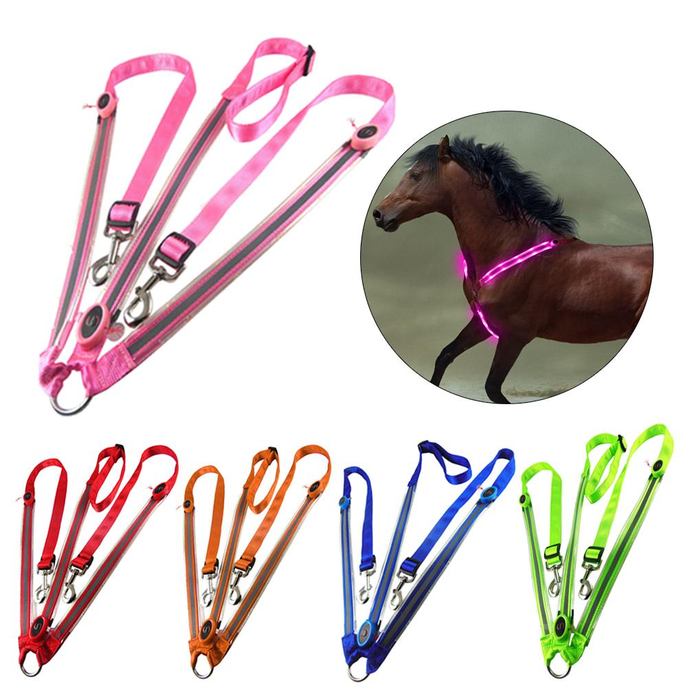 Horse Chest Collar LED Luminous Horse Chest Strap Bridle Halter Visibility Horse Safety Horseback Riding Equestrian Equipment