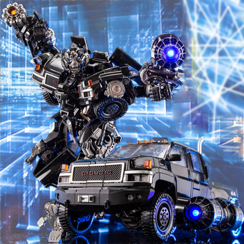 Action Figure LS09 Autobot Ironhide MPM06 Transformers Enlarged Metal Part Alloy Robot Car Model Collections 1