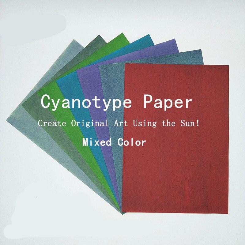 A4 бумага для печати с активированным от солнца природным принтом, Солнцезащитная бумага Cyanotype, высокочувствительная бумага для печати 24 шт.