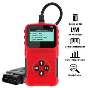 Image 2 - V309 OBD2 Code Reader OBD 2 Scanner OBDII Auto Diagnose Werkzeug Stecker und Spielen Digital Display Auto Zubehör ULME 327