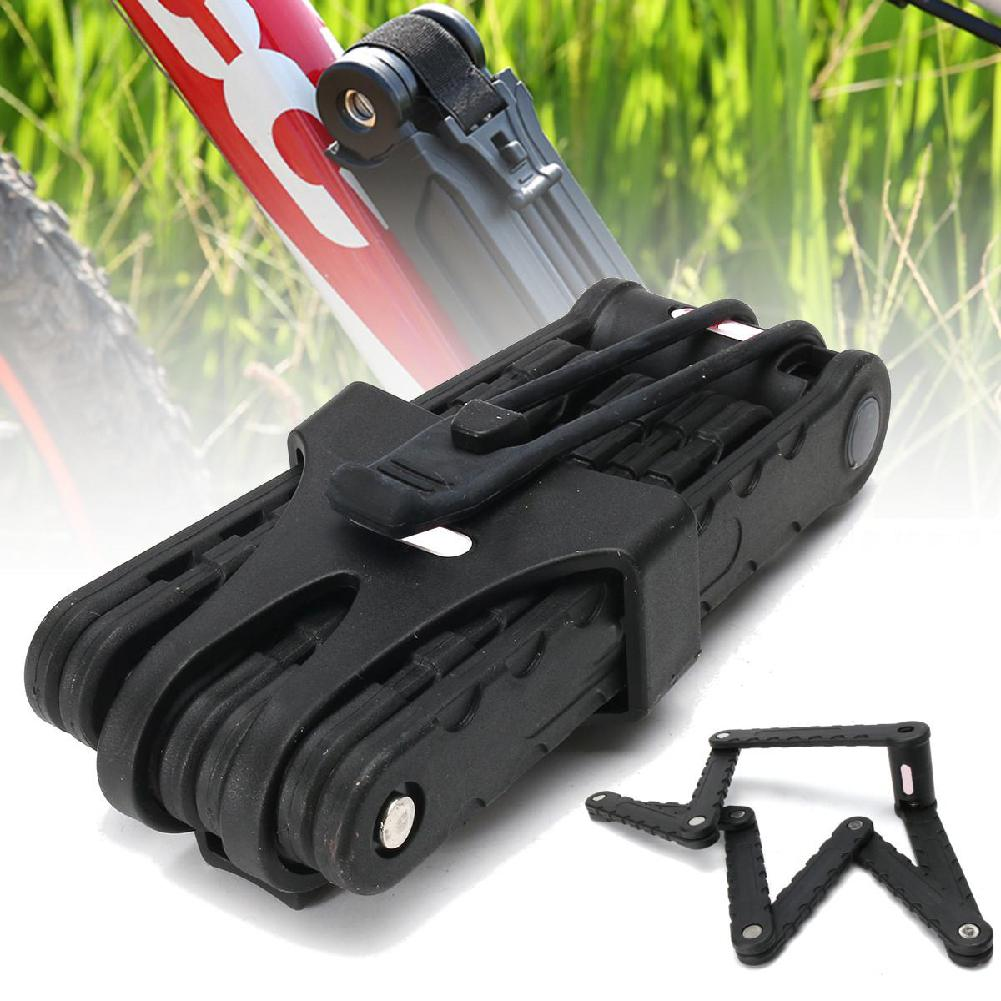Bicycle Foldable Lock Anti-theft Chain Cable Security with Accessories Outdoor Sports