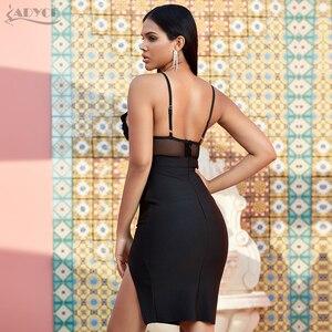 Image 5 - Adyce 2020 חדש הגעה נשים תחרה תחבושת שמלת Vestido סקסי ללא שרוולים ספגטי רצועת V צוואר סלבריטאים מסלול מסיבת מועדון שמלה