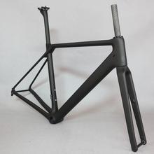 חדש פחמן שטוח הר דיסק בלם כביש אופני מסגרת אופניים מערךמסגרות אקסל thru חדש EPS טכנולוגיה T1000 פחמן