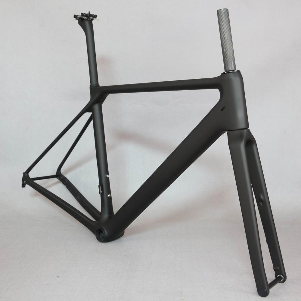 NEW  Carbon Flat Mount Disc Brake Road Bike Frame Bicycle Frameset  Axle Thru  New EPS Technology T1000 Carbon