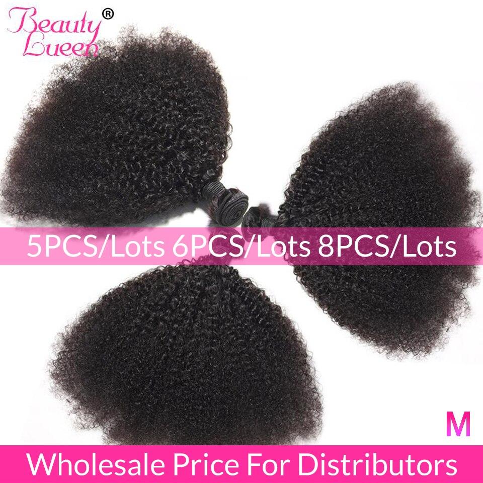 Afro rizado mechones precio al por mayor 5/6/8 mechones de cabello brasileño tejido mechones Remy extensiones de cabello humano para distribuidores
