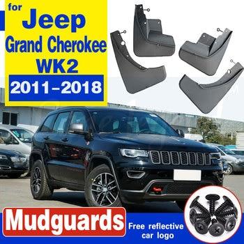 цена на For Jeep Grand Cherokee WK2 2011-2018 Set Front Rear Car Mud Flaps Mudflaps Splash Guards Mud Flap Mudguards 2012 2013 2014 2015