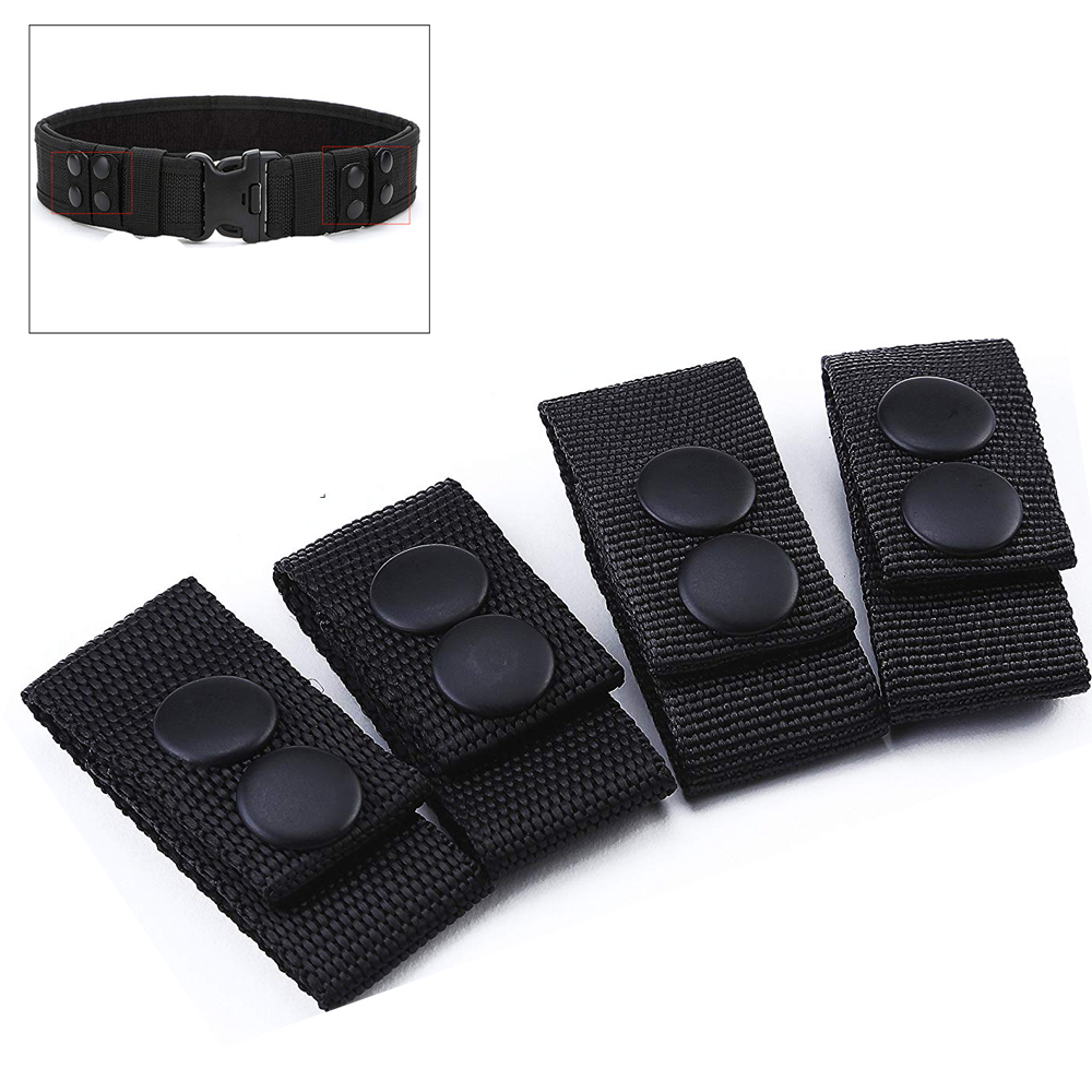 4Pcs/set Belt Buckle Portable Tactical Multi-function Belt Buckle Nylon Strap Durable Webbing Belt Keeper Hunting Belt Accessory