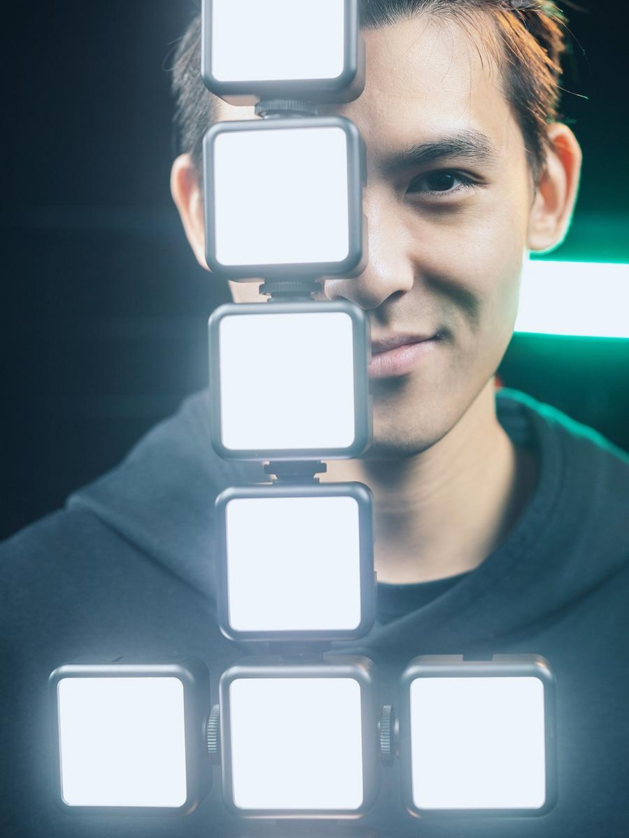Ulanzi Photography Lighting Mini Portable Triple Vlog LED Cold-Shoe