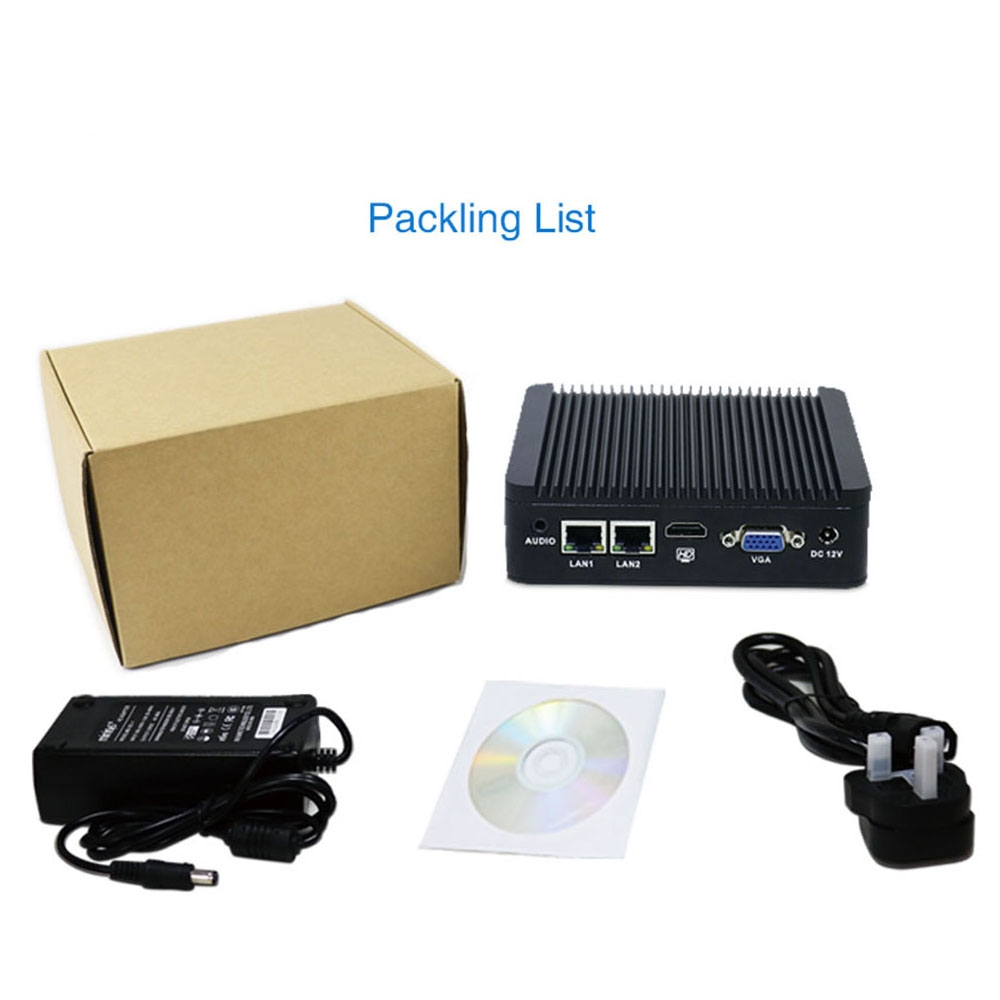 J1900 Fanless Industrial Mini PC With Parallel Port LTE Sim Card Slot 12v X86 Computer
