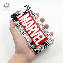 For iPhone 7 8 Plus 6s Marvel The Avengers Phone Case X XS 6 Soft Silicone Superman Batman Cover