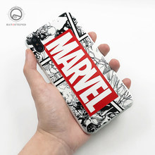 For iPhone 7 8 Plus 6s Marvel The Avengers Phone Case For iPhone X XS 6 6s 7 8 8 Plus Soft Silicone Superman Batman Cover Case(China)