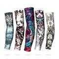 Китайские перчатки с татуировками для мужчин и женщин, наружные велосипедные перчатки, солнцезащитные, для вождения, рыбалки, с длинным рук...