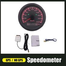 Velocímetro 120 km/h de gps para o barco de carro 200 km/h vermelho luz de fundo medidor de velocidade com esquerda direita feixe alto 12v/24v para o carro auto