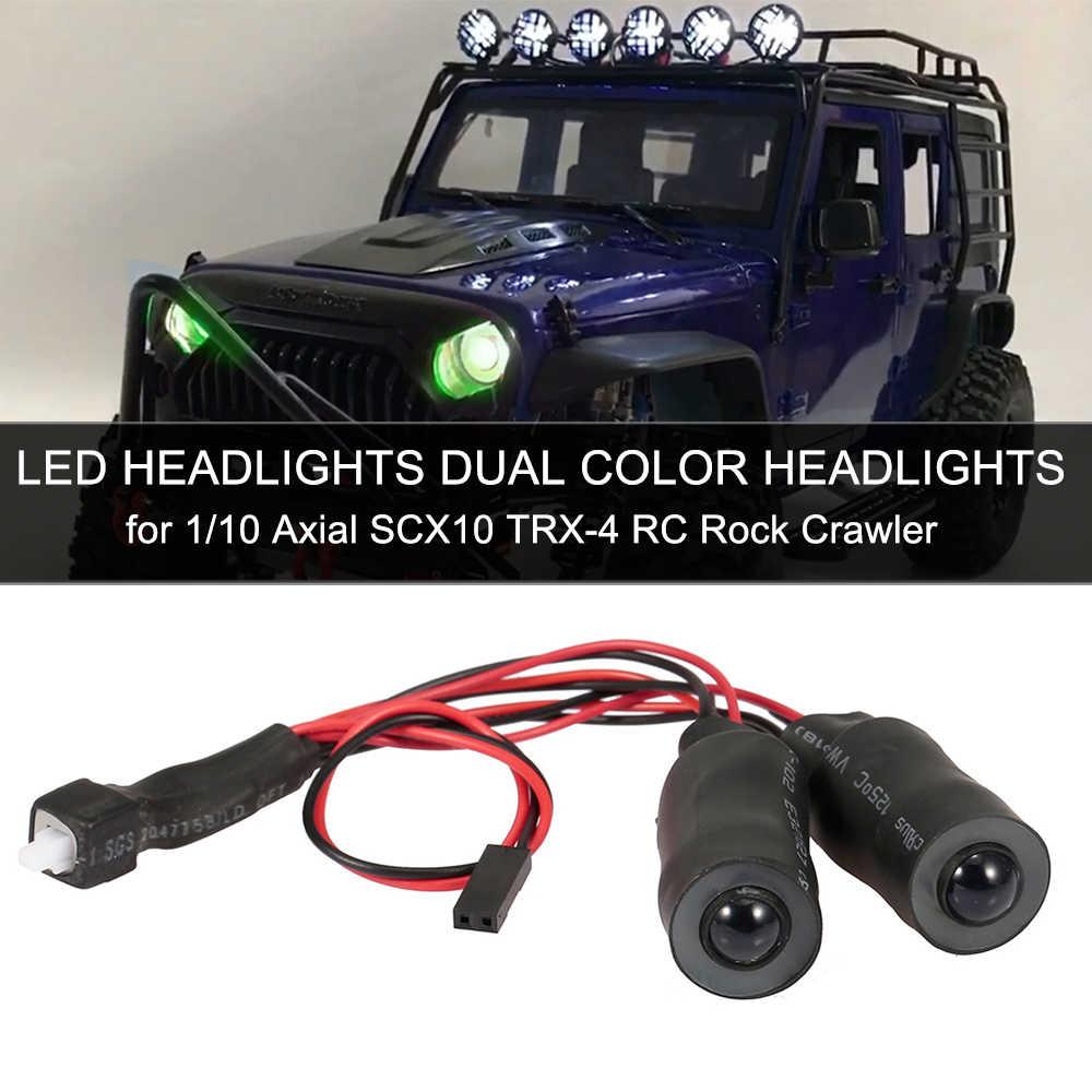 RC Auto Fari A LED Fari alogeni di profondità di Colore Doppio Fari per il 1/10 RC Rock Crawler Assiale SCX10 RC4WD Traxxas TRX-4 Auto