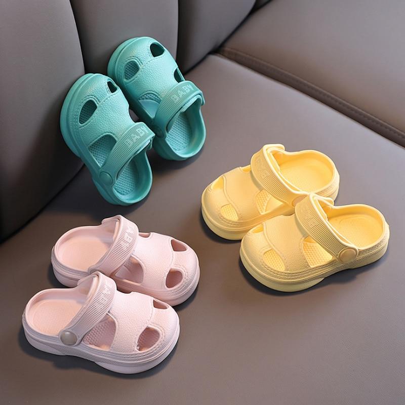 Slippers For Kids Shoes Boys Girls Summer Toddler Kids Cartoon Beach Shoes Baby Soft Indoor Bathroom Slippers Flip Flops 3