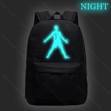 Hot sale cristiano ronaldo cr7 luminous school backpack night