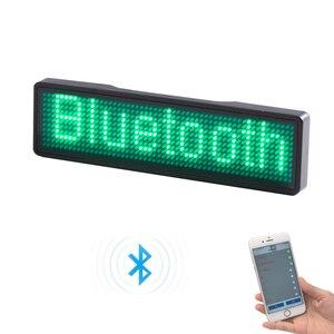 Image 3 - Bluetooth programmierbare LED name abzeichen 7 farben LED und 9 farben fall mit magnet und pin für event cafe bar restaurant expo zeigen