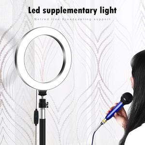 Image 5 - 20cm LED Selfie Ring Light 3200K 5500K High quality Photography Dimmable Video Fill Lamp with Tripod Live Broadcast Props