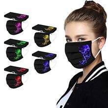 Novo masque jetable adulto respirante primé noir 50pc borboleta impresso máscara protetora descartável máscaras faciais