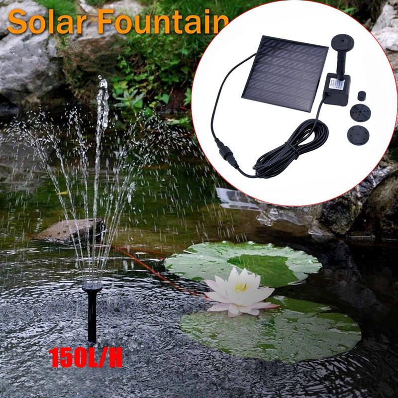 LED Solar Powered Fountain Pump Waterfalls Submersible Solar Water Pumps For Garden Pond Pool Decoration 7V