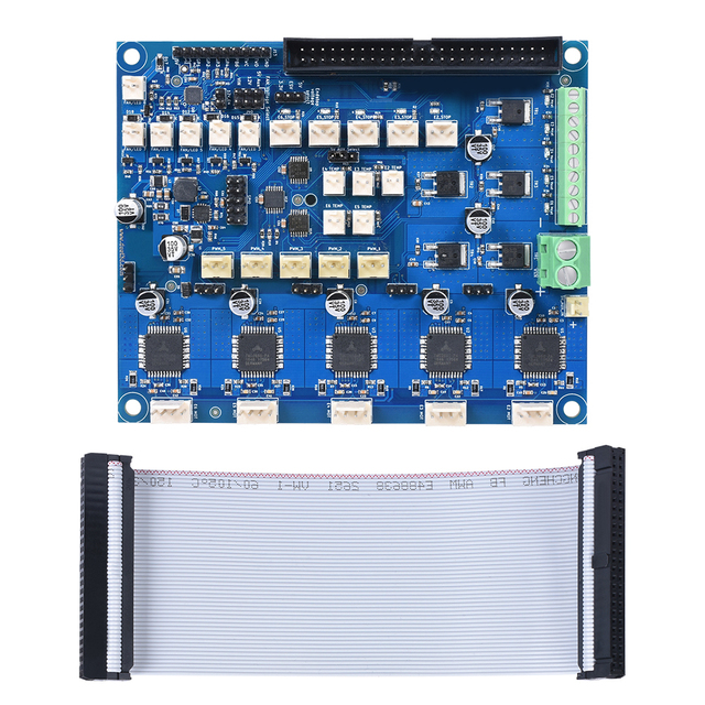 Cloned Duex5 Expansion Control Board With TMC2660 Support For Thermocouple Or PT100 Boards For 3D Printer Parts And CNC Machine