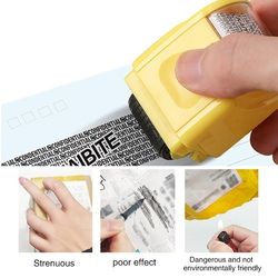 Identity Privacy Protection Roller Stamp ID guard Portable Information Coverage Messy Code Data Protector Security Seal