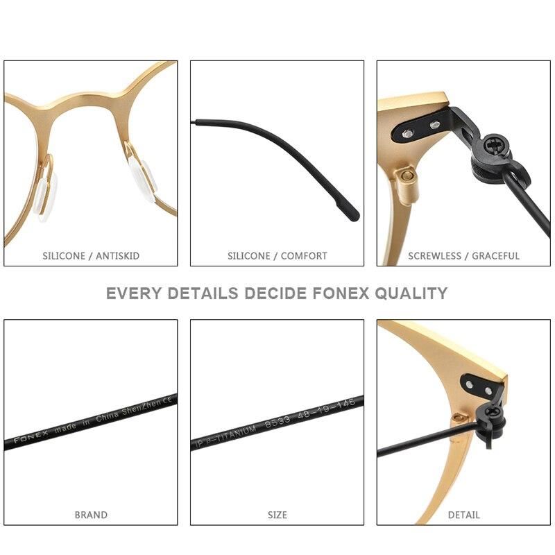 Ultimate SaleFONEX Eyeglass Frame Screwless Eyewear Myopia Optical-Prescription Round Vintage Women