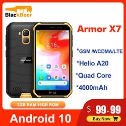 Перейти на Алиэкспресс и купить ulefone armor x7 5.0 inch mobile phone android10 ip68 rugged waterproof smartphone 2gb 16gb cellphone quad core nfc 4000mah gps