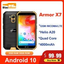 Ulefone Armor X7 Điện Thoại Di Động 5.0 Inch Android10 IP68 Chắc Chắn Chống Nước Điện Thoại Thông Minh GB RAM 16GB ĐTDĐ Quad Core NFC 4000MAh GPS
