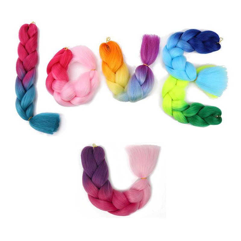 Объемные Волосы Омбре Экспрессия плетение волос Синтетические наращивание плетение Парик Косы цвет волос канекалон